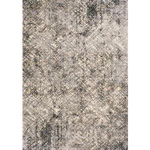 Tapis Sidra de Kalora, motif hachuré, 5, 08 pi x 7, 58 pi, crème