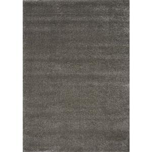 Tapis Sparkle de Novelle Home, 5, 25 pi x 7, 58 pi, gris graphite