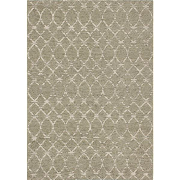 Kalora Vista Rug - Latticework Pattern - 5.25-ft x 7.58-ft - Beige