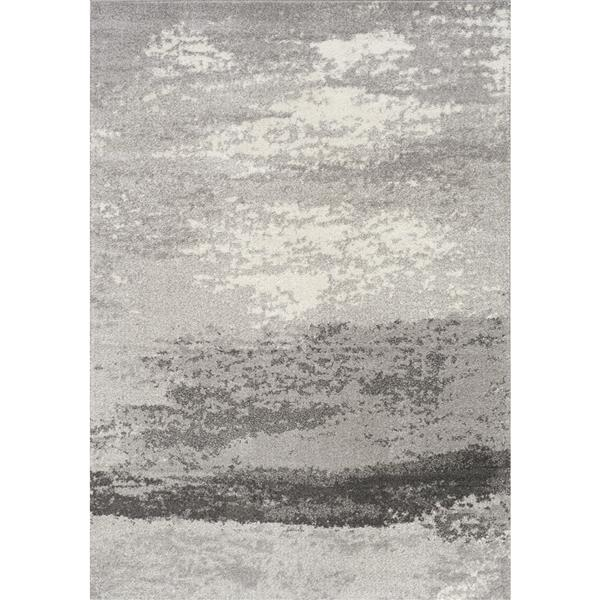 Novelle Home Converge Rug - Abstract Fog - 6.58-ft x 9.5-ft - Grey