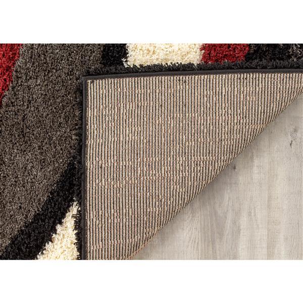 Tapis Shaggy de Kalora, 1, 9 pi x 3, 58 pi, gris graphite