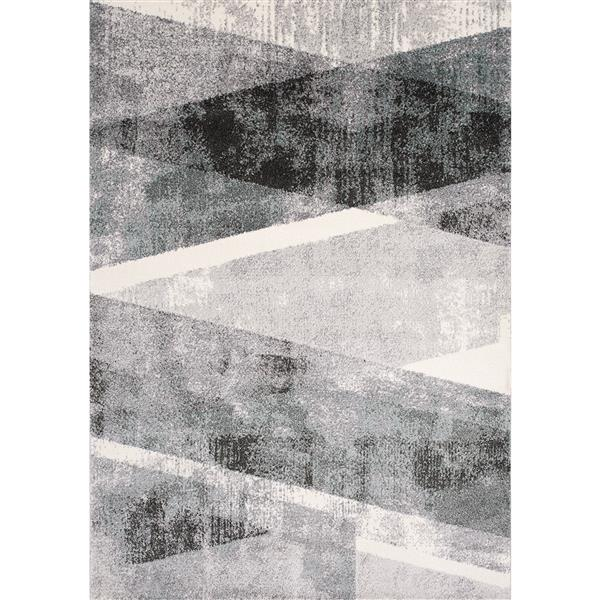 Kalora Soho Rug - Modern Pattern - 5.25-ft x 7.58-ft - Grey