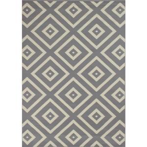 Tapis Fiona de Novelle Home, losanges, 7, 6 pi x 10, 5 pi, gris