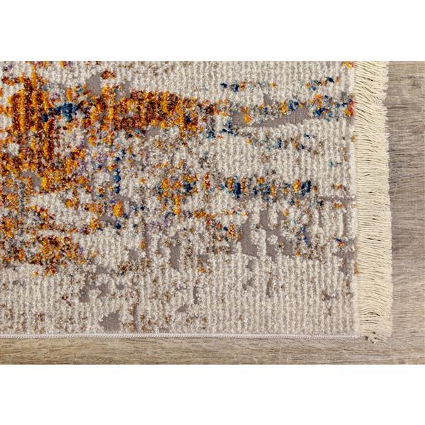 Tapis Evora de Kalora, formes discrètes, 7, 8 pi x 10, 5 pi, gris