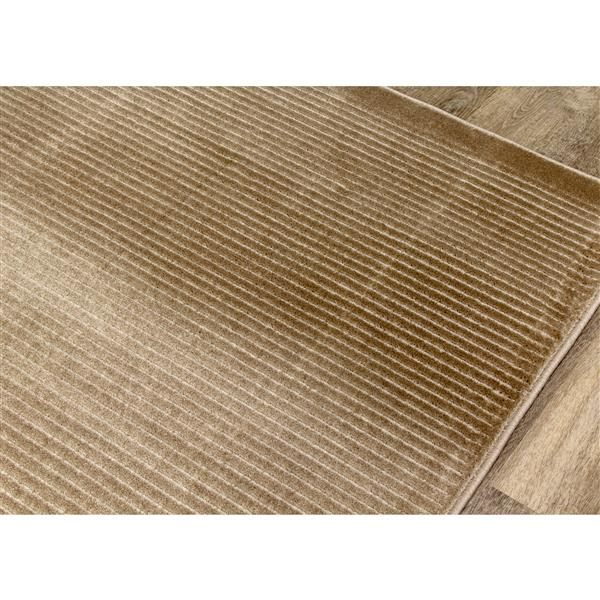 Tapis Harmony de Kalora, 5, 25 pi x 7, 58 pi, beige