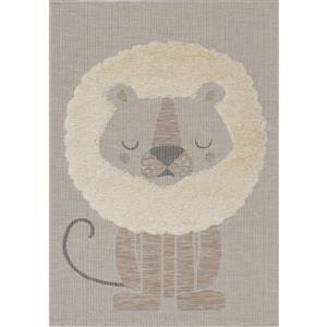 Tapis Neka de Kalora, lion, 3, 9 pi x 5, 58 pi, beige