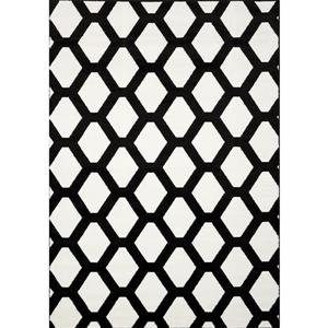Novelle Home Siecle Rug - Latticework Pattern - 2.6-ft x 4.9-ft - Cream