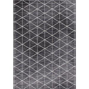 Tapis Fiona de Novelle Home, motif triangulaire moderne, 5, 25 pi x 7, 3 pi, gris