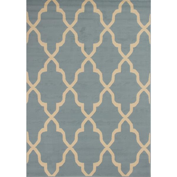 Novelle Home Fiona Rug - Narrow Ogee Pattern - 7.6-ft x 10.5-ft - Blue