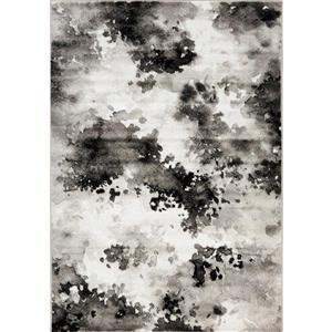 Tapis Paladin de Novelle Home, motif abstrait, 2 pi x 7, 58 pi, gris