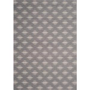 Kalora Vista Rug - Lattice Pattern - 5.25-ft x 7.58-ft - Grey