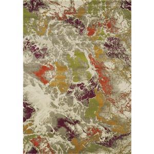 Tapis Jasper de Novelle Home, motif abstrait, 7, 8 pi x 10, 5 pi, gris