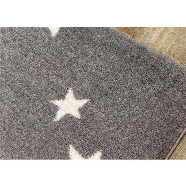 Kalora Camino Rug - Stars - 3.9-ft x 5.58-ft - Grey