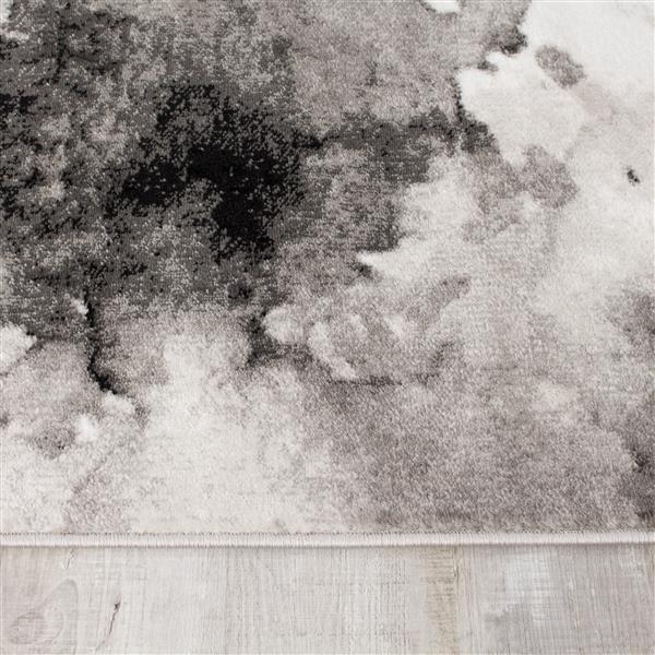 Novelle Home Paladin Rug - Dark Treetops Pattern - 5.25-ft x 7.58-ft - Grey