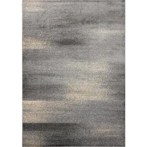Tapis Sigma de Novelle Home, motif abstrait, 5, 25 pi x 7, 58 pi, crème