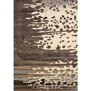 Novelle Home Fiona Rug - Abstract Forest Island - 5.25-ft x 7.3-ft - Cream