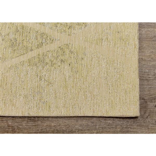 Kalora Cathedral Rug - Latticework Pattern - 5.08-ft x 7.58-ft - Cream