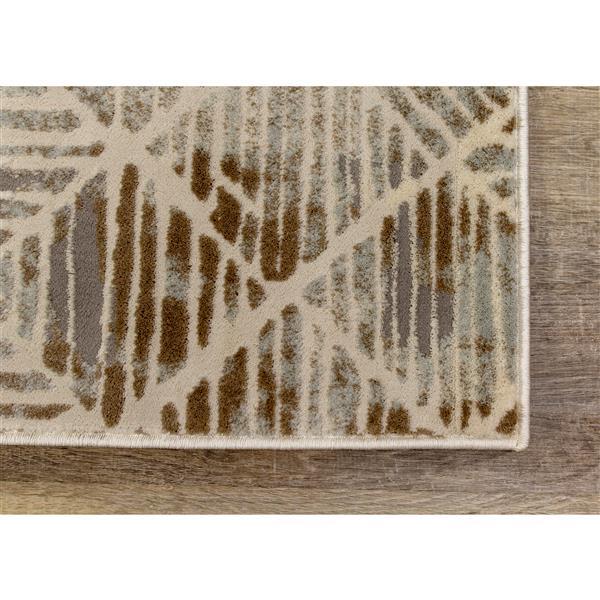 Tapis Harmony de Kalora, motif tribal, 7, 8 pi x 10, 5 pi, gris