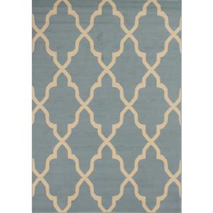 Novelle Home Fiona Rug - Narrow Ogee Pattern - 5.25-ft x 7.3-ft - Blue