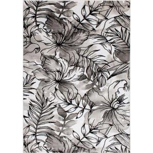 Kalora Platinum Rug - Flower Pattern - 5.25-ft x 7.58-ft - Grey