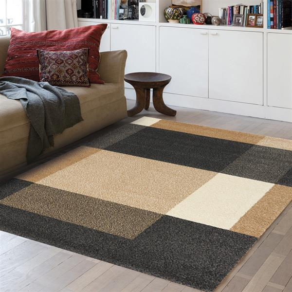 Novelle Home Burnley Rug - Modern Pattern - 7.8-ft x 10.83-ft - Beige