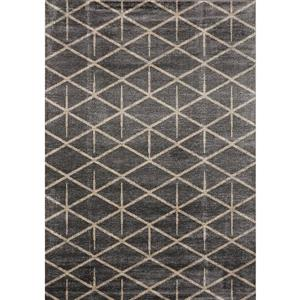 Novelle Home Sigma Rug - Modern Triangular Pattern - 2.6-ft x 7.8-ft - Cream