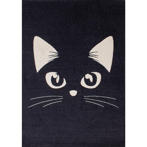 Kalora Kalora Kids Rug - Cat - 3.9-ft x 5.58-ft - Grey