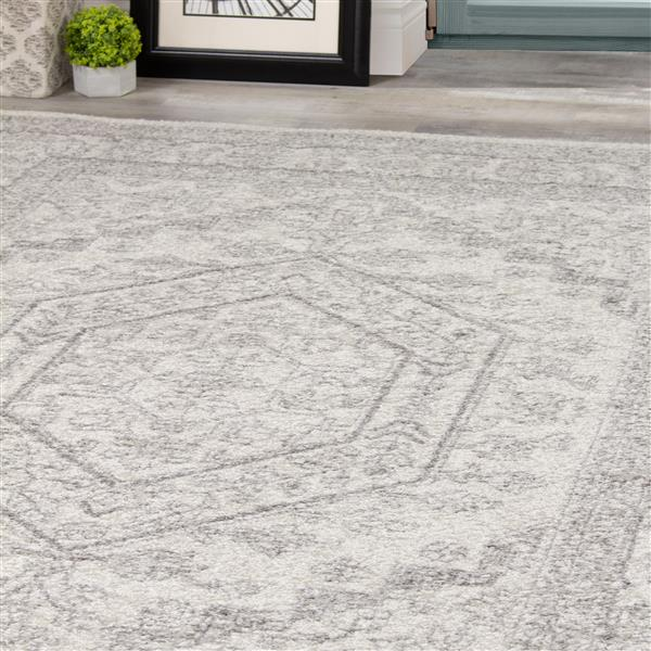 Novelle Home Converge Rug - Traditional Pattern - 7.8-ft x 10.5-ft - White