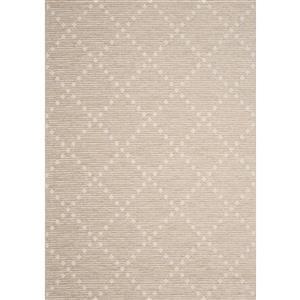 Tapis Vista de Kalora, losanges, 5, 25 pi x 7, 58 pi, beige