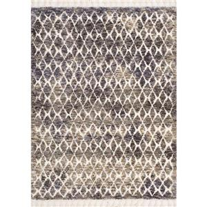 Kalora Colorado Rug - Latticework Pattern - 7.8-ft x 10.5-ft - Beige