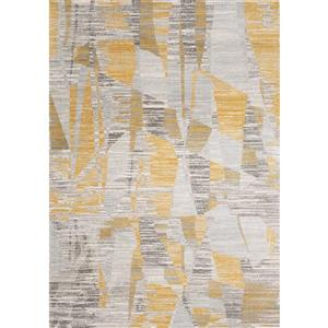 Kalora Harmony Rug - Odd Shapes - 5.25-ft x 7.58-ft - Grey