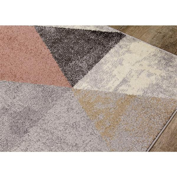 Kalora Soho Rug - Pastel Triangular Pattern - 7.8-ft x 10.5-ft - Grey