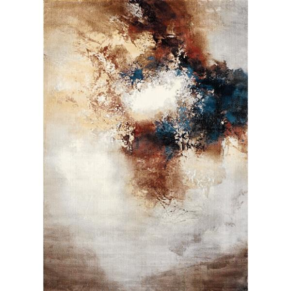 Kalora Sidra Rug - Foggy Wisps - 7.58-ft x 10.5-ft - Cream