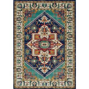 Tapis Brille de Novelle Home, motif traditionnel, 2, 58 pi x 4, 9 pi, gris