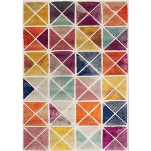Tapis Brighton de Kalora, motif géométrique, 7, 8 pi x 10, 5 pi, beige