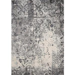 Kalora Breeze Rug - Faded Etching Pattern - 7.8-ft x 10.5-ft - Grey