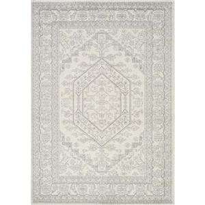 Novelle Home Converge Rug - Traditional Pattern - 2.58-ft x 4.9-ft - White