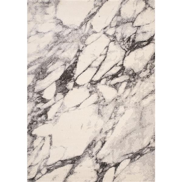 Kalora Safi Rug - Marble Pattern - 5.25-ft x 7.58-ft - Cream