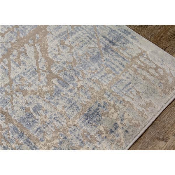 Kalora Harmony Rug - Crosshatch Pattern - 5.25-ft x 7.58-ft - Grey