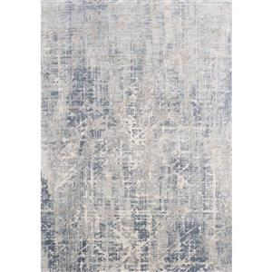 Kalora Harmony Rug - Crosshatch Pattern - 5.25-ft x 7.58-ft - Grey