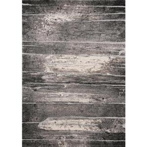 Tapis Montana de Kalora, motif abstrait, 7, 8 pi x 10, 5 pi, gris