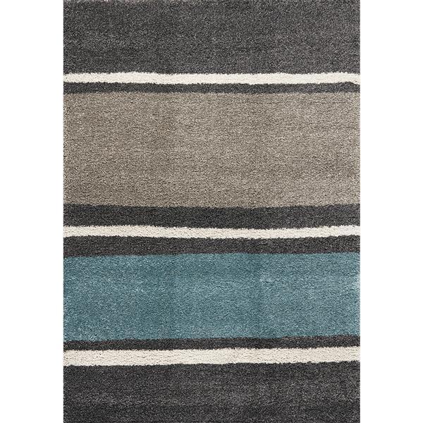Kalora Maroq Rug - Soft Stripes - 6.58-ft x 9.5-ft - Grey