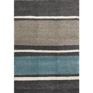 Tapis Maroq de Kalora, lignes délicates, 6, 58 pi x 9, 5 pi, gris
