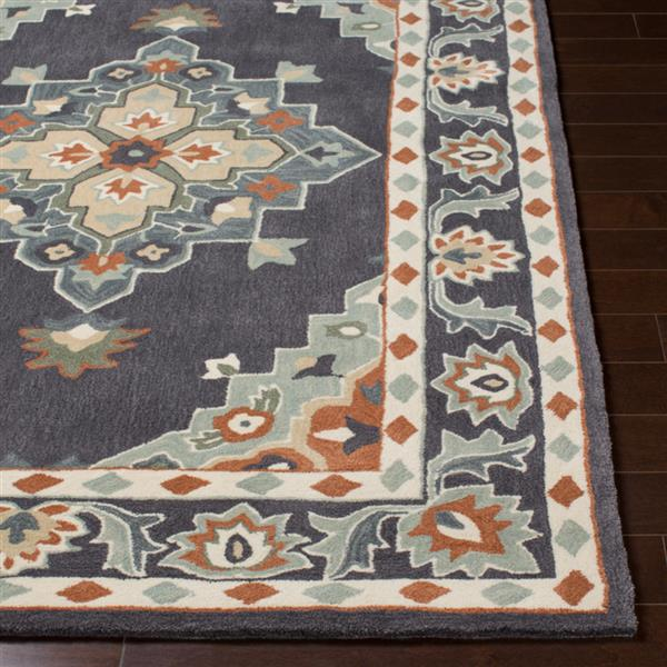 Surya Cosmopolitan Updated Traditional Area Rug - 5-ft x 8-ft - Rectangular - Charcoal