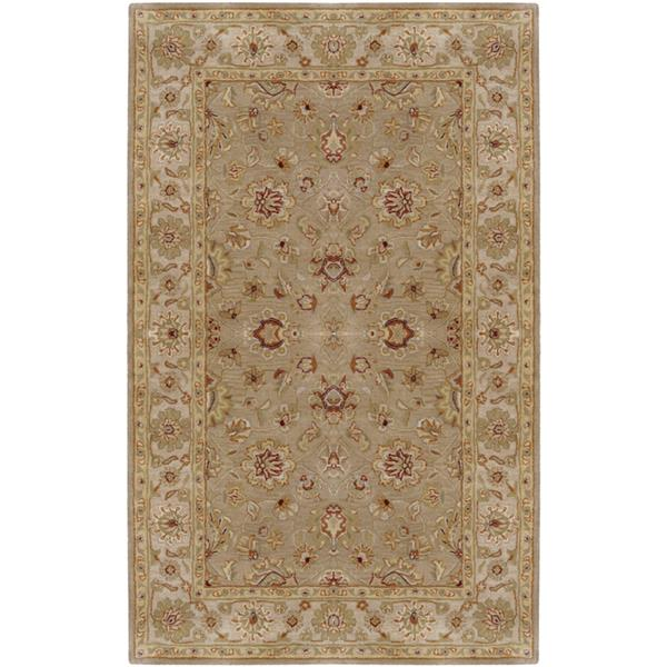 Surya Crowne Traditional Area Rug - 5-ft x 8-ft - Rectangular - Taupe