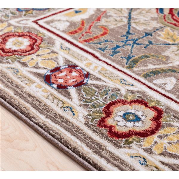 Surya Crafty Traditional Area Rug - 9-ft x 12-ft 3-in - Rectangular - Brown