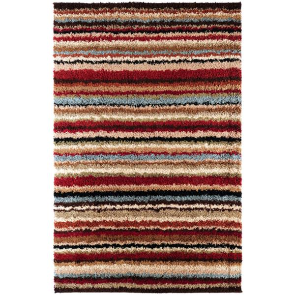 Surya Concepts Shag Area Rug - 7-ft 10-in x 10-ft 10-in - Rectangular - Burgundy