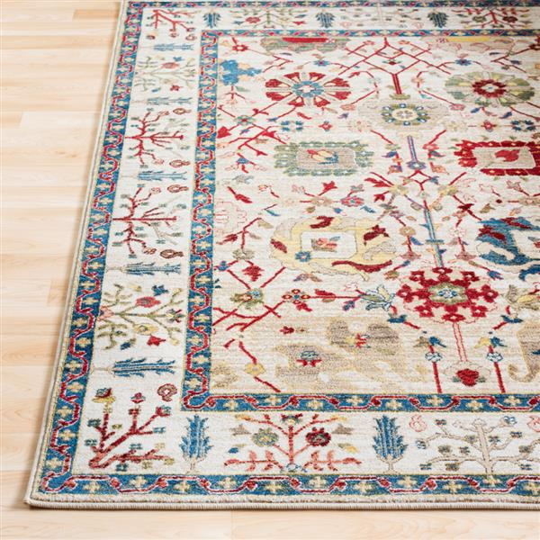 Surya Crafty Traditional Area Rug - 7-ft 10-in x 9-ft 10-in - Rectangular - Multi