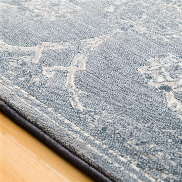 Surya Contempo Updated Traditional Area Rug - 3-ft 11-in x 5-ft 7-in - Rectangular - Blue