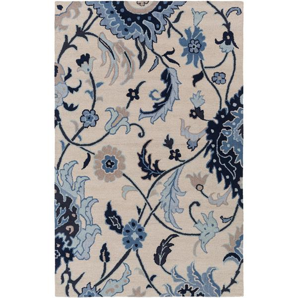 Surya Centennial Transitional Area Rug - 3-ft 3-in x 5-ft 3-in - Rectangular - Navy
